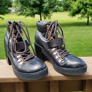 Topshop Black Moto Boots EU 37 US 6.5